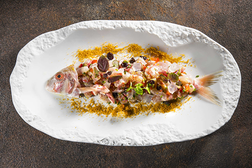 Red mullet tartare by Giannis Parikos