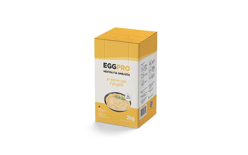 Αυγοδιατροφική: Μείγμα ομελέτας με φρέσκο γάλα και ελαιόλαδο