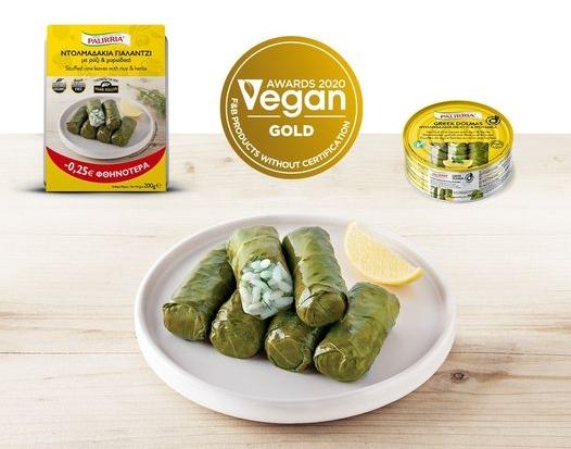 Ντολμαδάκια για vegan από την εταιρεία Παλίρροια