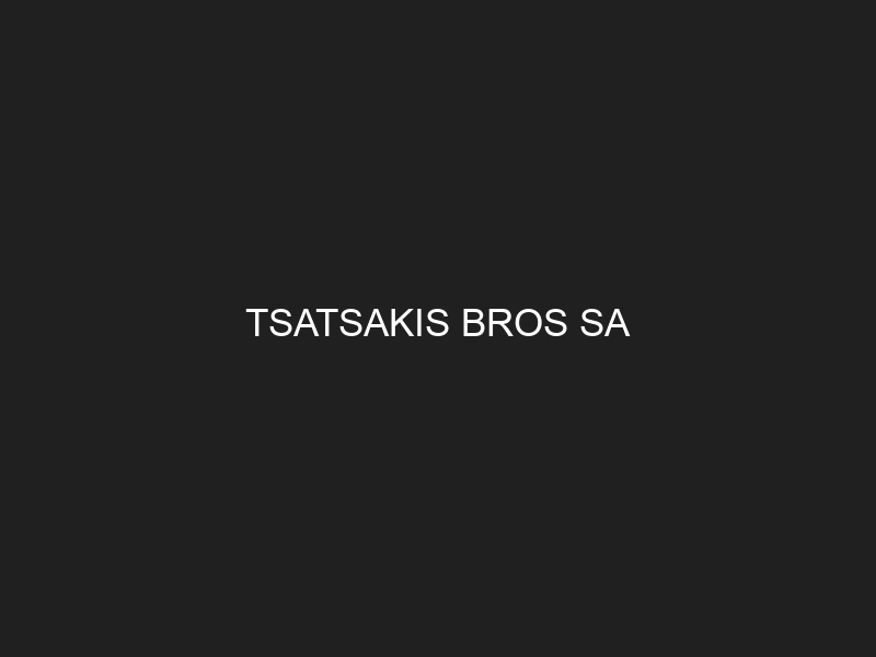 TSATSAKIS BROS SA