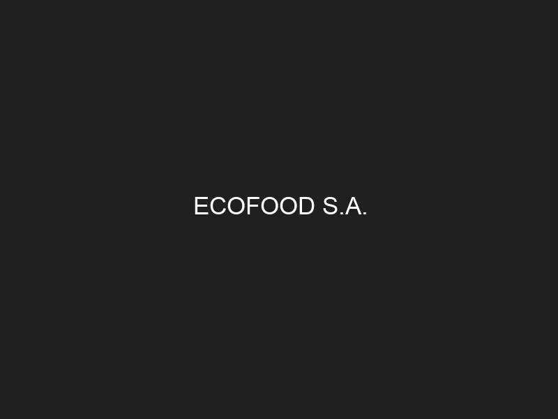 ECOFOOD S.A.