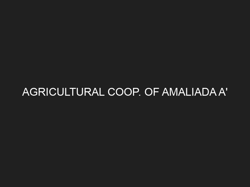 AGRICULTURAL COOP. OF AMALIADA A'