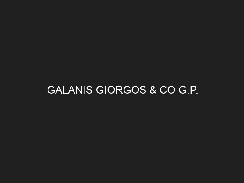 GALANIS GIORGOS & CO G.P.