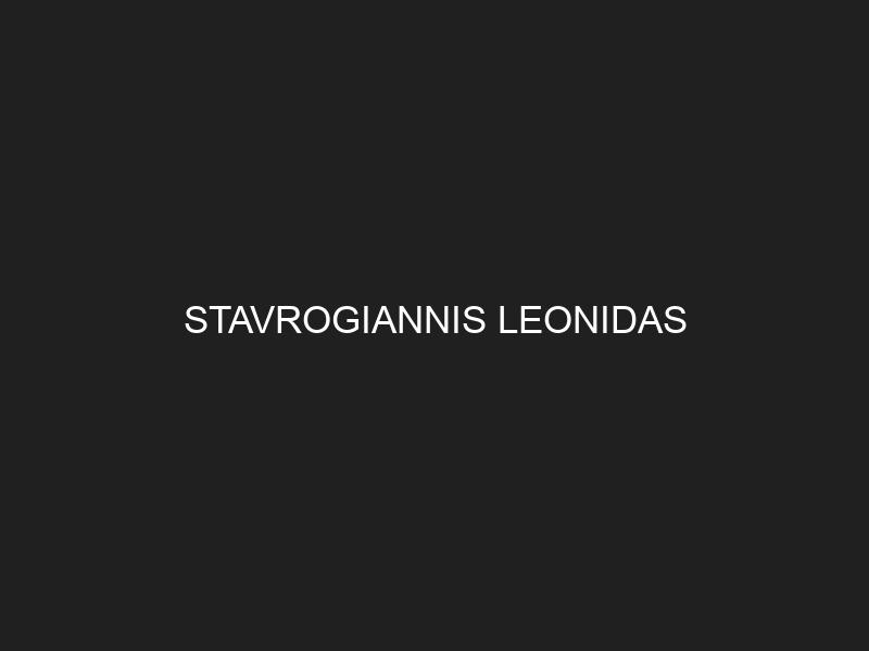 STAVROGIANNIS LEONIDAS