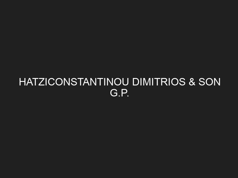 HATZICONSTANTINOU DIMITRIOS & SON G.P.
