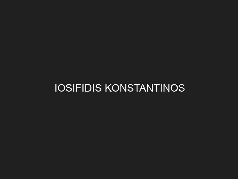 IOSIFIDIS KONSTANTINOS