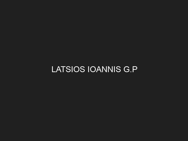 LATSIOS IOANNIS G.P