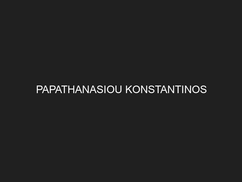 PAPATHANASIOU KONSTANTINOS