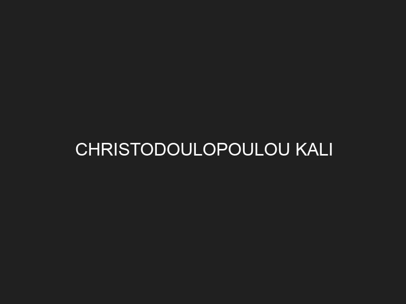 CHRISTODOULOPOULOU KALI