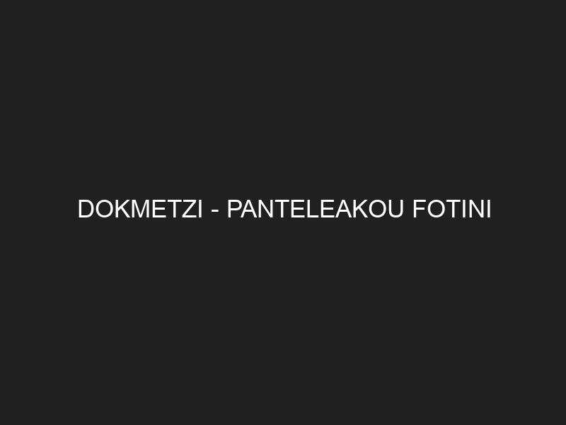 DOKMETZI — PANTELEAKOU FOTINI