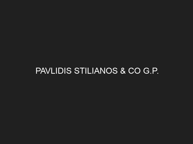 PAVLIDIS STILIANOS & CO G.P.