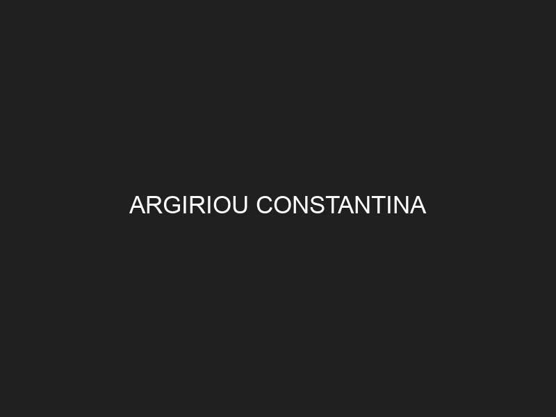 ARGIRIOU CONSTANTINA