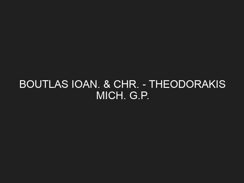 BOUTLAS IOAN. & CHR. — THEODORAKIS MICH. G.P.