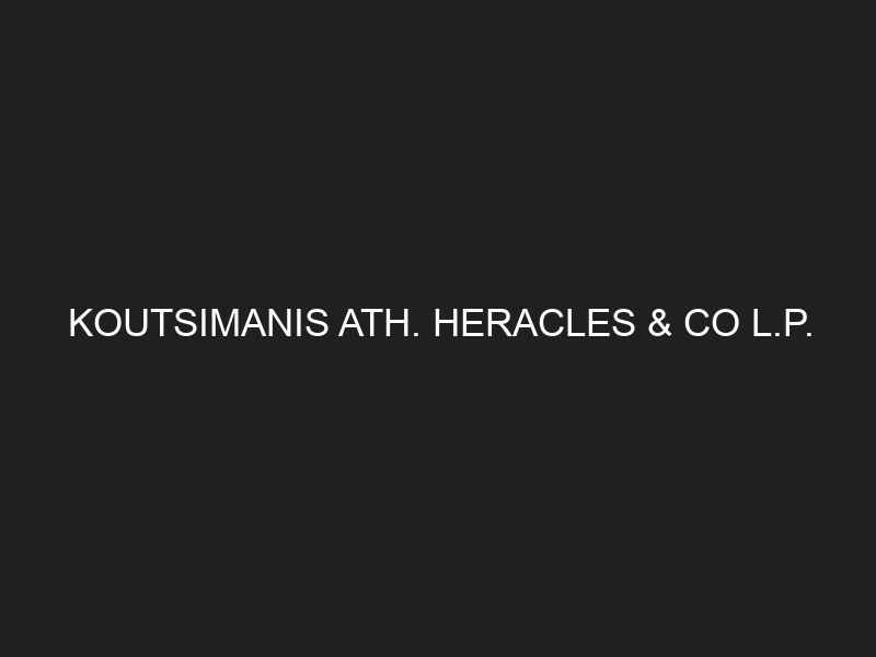 KOUTSIMANIS ATH. HERACLES & CO L.P.