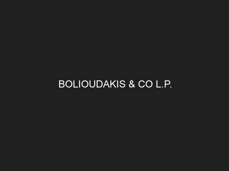 BOLIOUDAKIS & CO L.P.